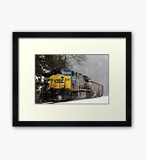 Snow Storm CSX Framed Print
