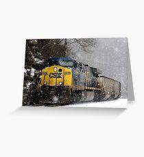 Snow Storm CSX Greeting Card