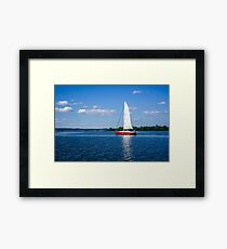 Sailboat on Volga River Framed Print