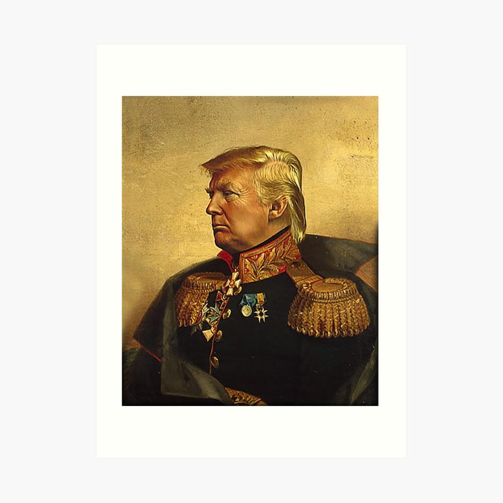 Dios emperador Trump Lámina artística