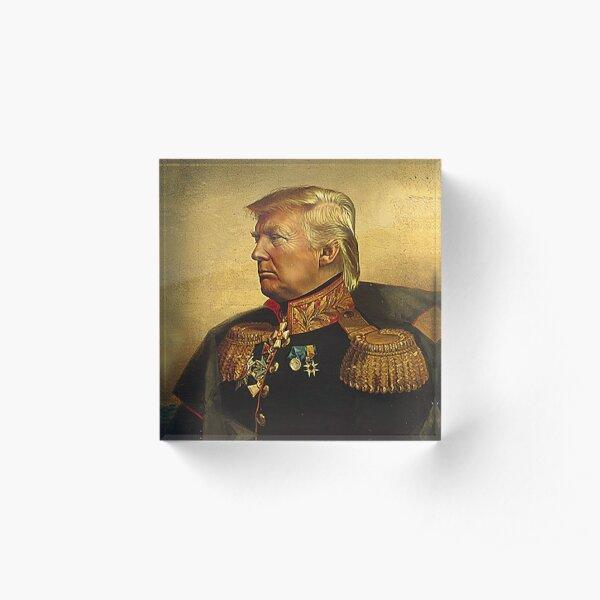 God Emperor Trump Acrylic Block
