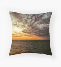 Bay of Biscay Sunrise Throw Pillow