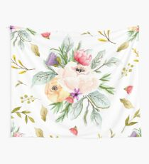 Peony Bunch Pattern Transparent Wallpaper Wall Tapestry