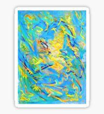 Spring - Fruehling - oil painting Sticker
