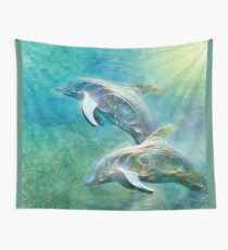 Carefree Dolphins Wall Tapestry