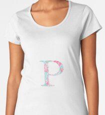 Rho Splash Greek Letter Women's Premium T-Shirt