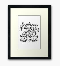 Roald Dahl Quote from Matilda Framed Print