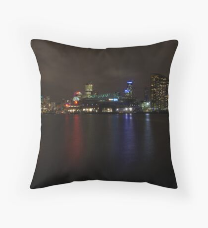 Docklands by Night Throw Pillow