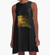 Vestido acampanado Texto de las letras de Phish Simple - Photo Fill