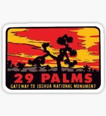29 Palms Gateway to Joshua Tree National Monument Vintage Travel Decal Sticker
