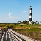 Wooden Walkway to Bodie Island Lighthouse by Sherry V. Smith Fine Art Photography