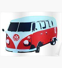 Spray Paint VW Bus Poster