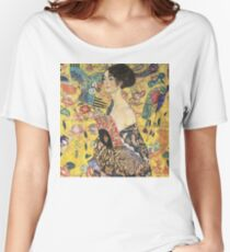 """Lady with Fan"" by Gustav Klimt  Women's Relaxed Fit T-Shirt"