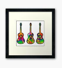 Three Liquid Lava Guitars Framed Print