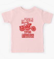 True Freedom - Road is my friend Motorbike - Red Kids Clothes
