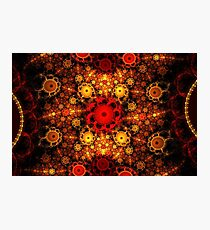 Red Orange Petals Photographic Print