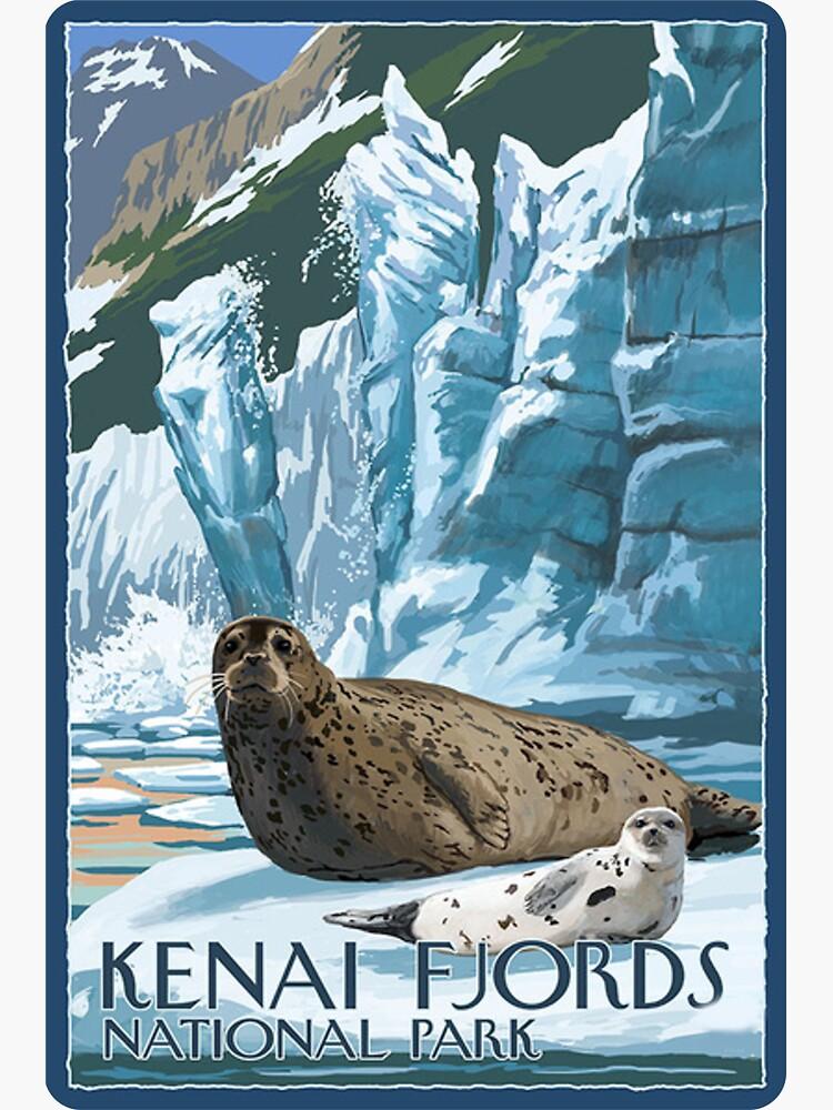 Kenai Fjords National Park Alaska USA Travel Decal by MeLikeyTees
