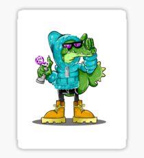 cool crocodile Sticker