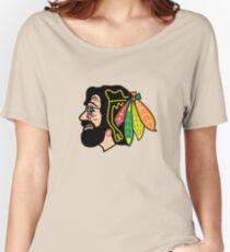 Jerry Hawk -- Blackhawks Jerry Garcia Women's Relaxed Fit T-Shirt