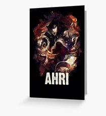 League of Legends AHRI Greeting Card