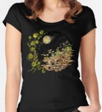 Village || Surreal Illustration by Chrysta Kay Women's Fitted Scoop T-Shirt