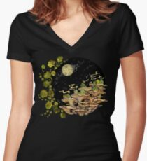 Village || Surreal Illustration by Chrysta Kay Women's Fitted V-Neck T-Shirt