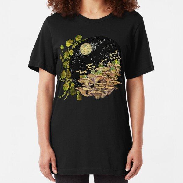 Village    Surreal Illustration by Chrysta Kay Slim Fit T-Shirt