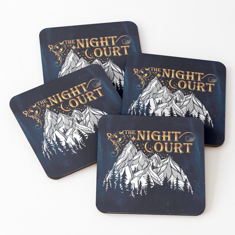 A Court of Wings and Ruin, The Night Court Coasters (Set of 4)