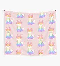 Gay Pride Fox Wall Tapestry