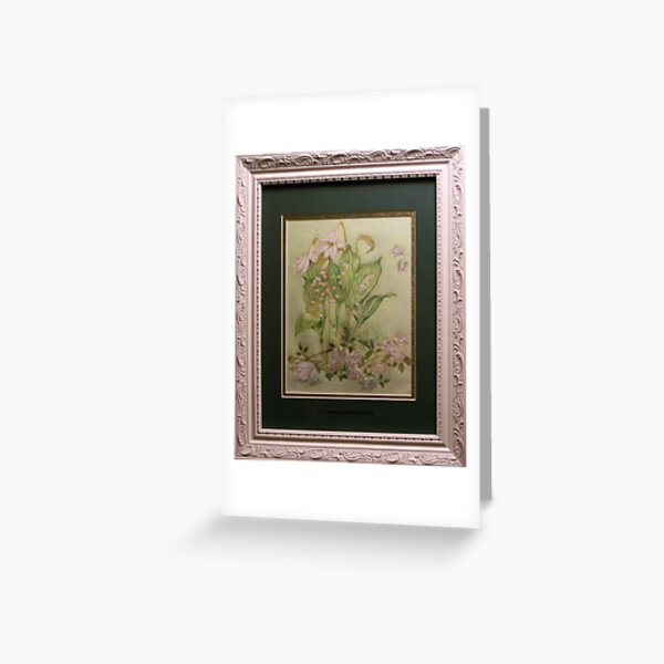 Gathering the Bridal Bouquet Framed Version Greeting Card