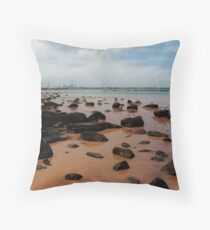 parting of the red sea Throw Pillow