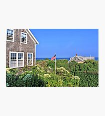 Nantucket Cottages Overlooking The Sea In Siasconset Photographic Print