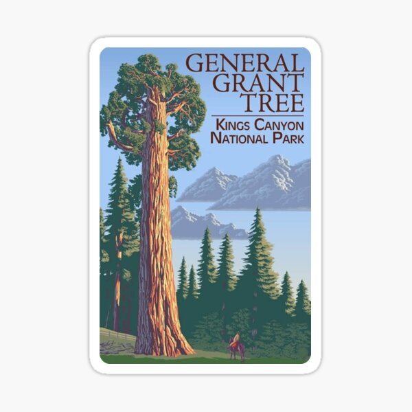 General Grant Tree Kings Canyon National Park Travel Decal Sticker