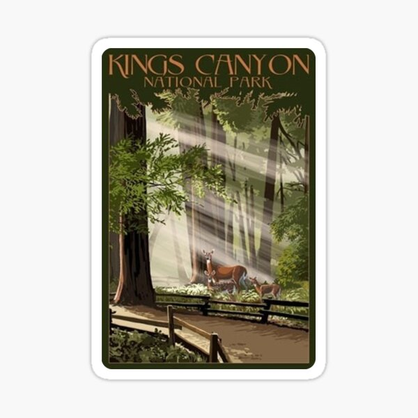 Kings Canyon National Park Travel Decal Sticker Sticker