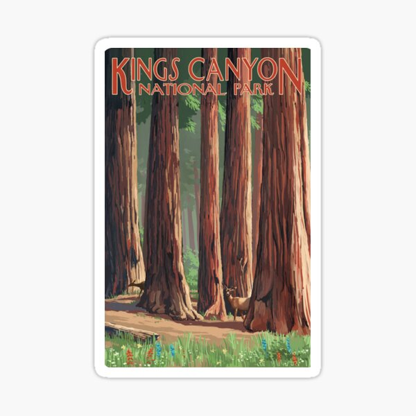 Kings Canyon National Park Travel Decal California USA Sticker