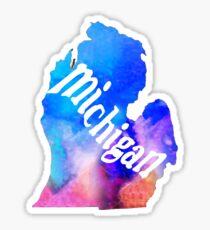 Michigan - Watercolor Sticker