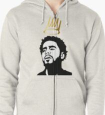J. cole 2 Exlusive T-shirt Zipped Hoodie