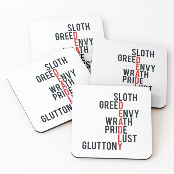 The Deadly Sins Coasters (Set of 4)