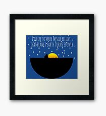 OWL CITY FIREFLIES QUOTE Framed Print