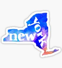 NY - Watercolor  Sticker