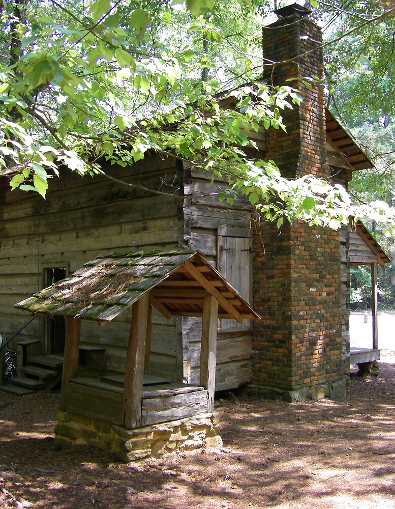 Americana Log Cabin Culture Callaway Gardens Georgia by Sheila McCrea