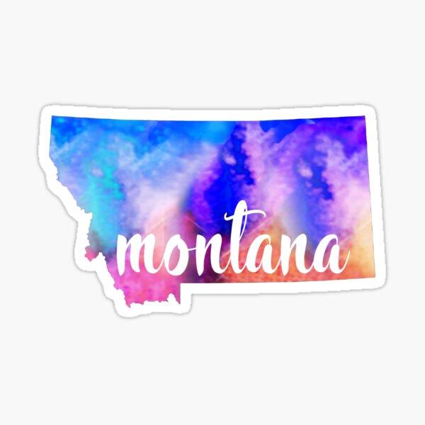 Montana - Watercolor  Sticker