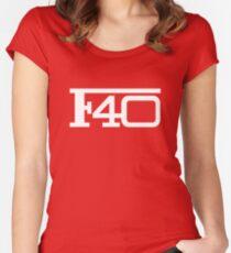 Ferarri - F40 logo Women's Fitted Scoop T-Shirt