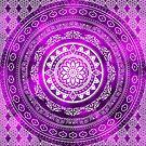 'Purple Destiny' Purple & White Flower Of Life Boho Mandala Design by ImageMonkey