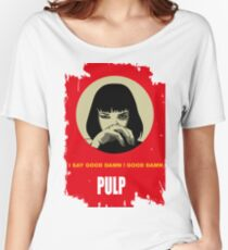 PULP FICTION GOODDAMN MIA WALLACE Women's Relaxed Fit T-Shirt
