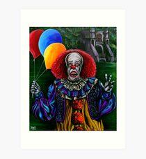Pennywise (Stephen King IT) Art Print