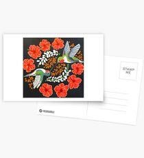 Postales Mandala colibrí