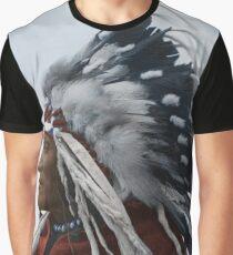 Lazy Boy - Blackfoot Indian Chief Graphic T-Shirt