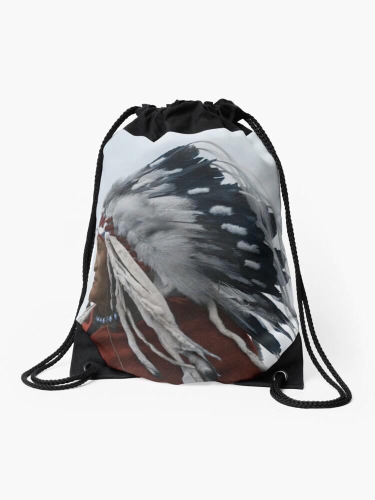 Lazy Boy - Blackfoot Indian Chief | Drawstring Bag