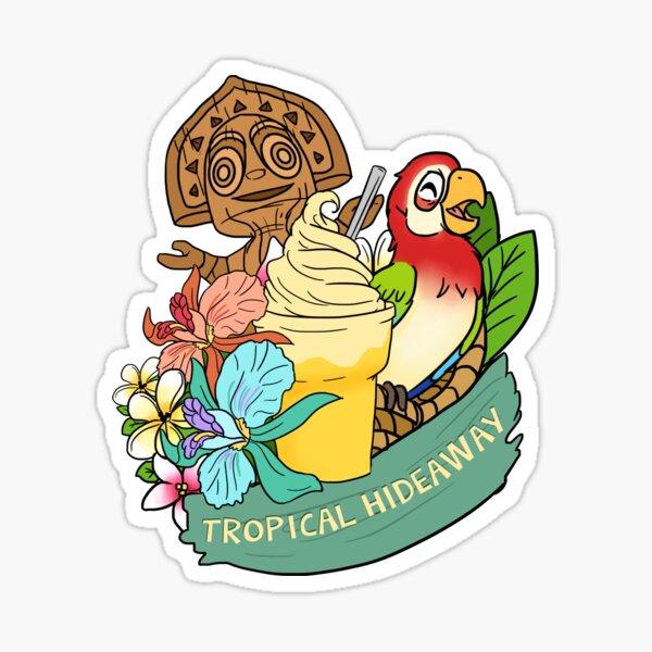 Tropical Hideaway Sticker